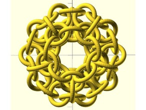 dave's 3d printing challenge - chainlink ball math art chain chainlink challenge dodecahedron openscad parametric