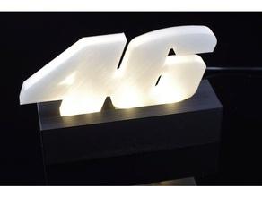 vr46 aydınlatmalı işaretler logoları led