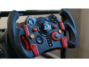 logitech g29 gt wheel rear brace buttons video games