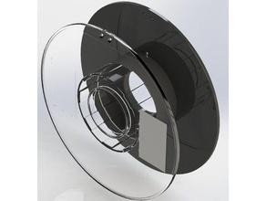 inland 1kg filament spool model 3d printer accessories 1kg plastic spool 1kg spool abs cad design esun filament reel filament spool holder filament spool hub mockup sldprt solidworks