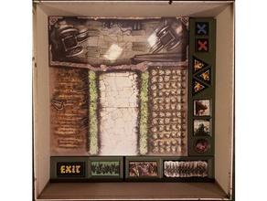 zombicide verde de la horda o de la - peste negra en bruto listo organizador del partido juegos