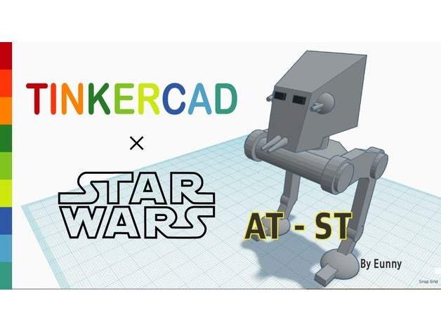 simple at-st tinkercad mo