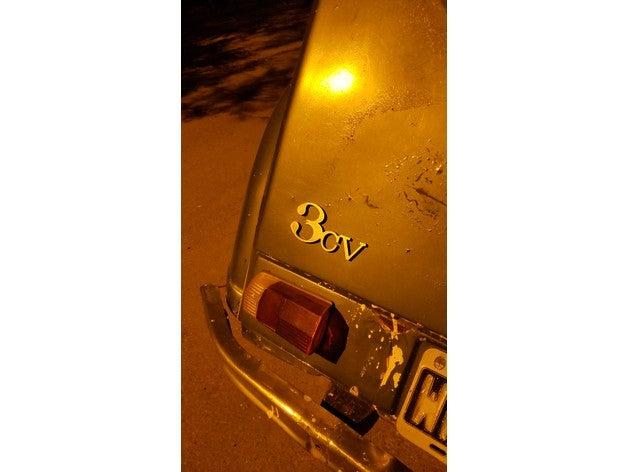 citro&eumln 3cv logo baul