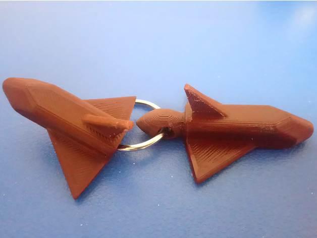 space shuttle keychain ke