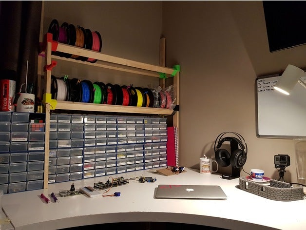 spool storage rack 3d pri