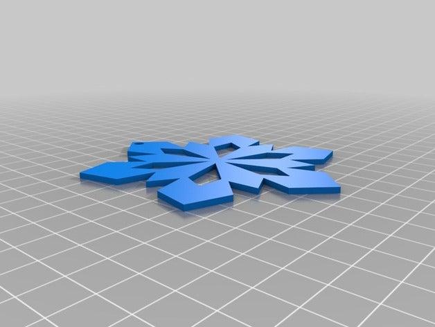 snow copos nieve 3d print