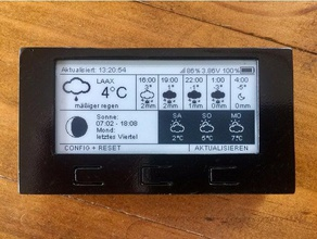 azsmz epaper 29 größeren Fall - Elektronik arduino thingpulse weatherstation Wetterstation