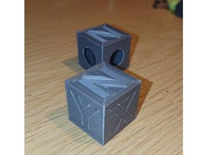 xyzo calibration cube 20mm 3d printing tests 2020 202020 2020 cube 20mm cube 3dtest all one extrusion cube hole hole cube steps per mm cube test cube test print xyz cube xyzo cube