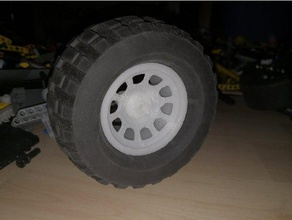 lego pro comp rim power puller tires engineering car offroad technic truck tyre wheel