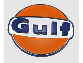 gulfsign sinais logotipos a gasolina chaveiro chaveiro petróleo