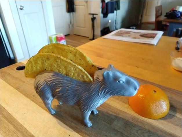 capybara taco holder scul