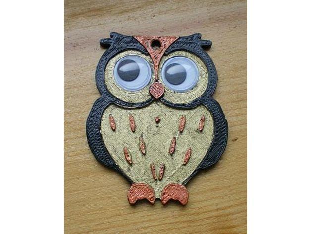 keychain owl keychains