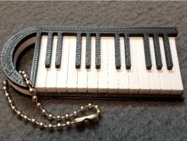 piano keychain music