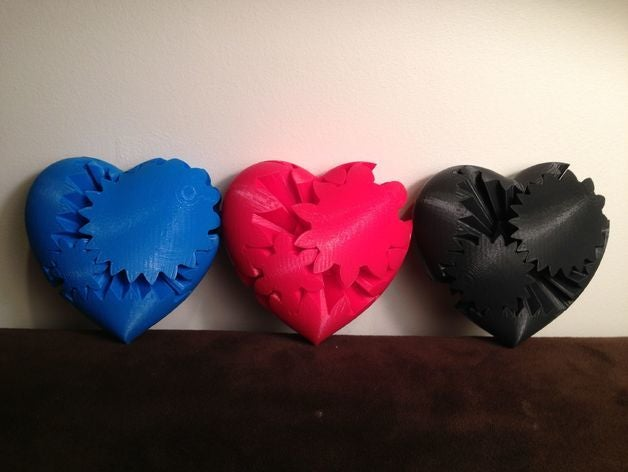 three heart gears fits 12