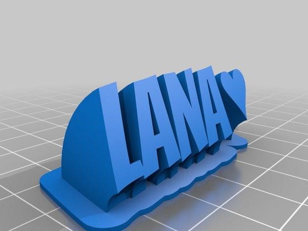 lana text office customiz
