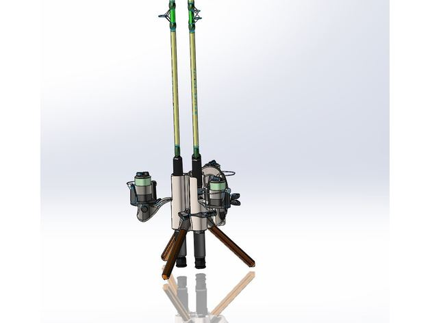 fishing rod carrier stand