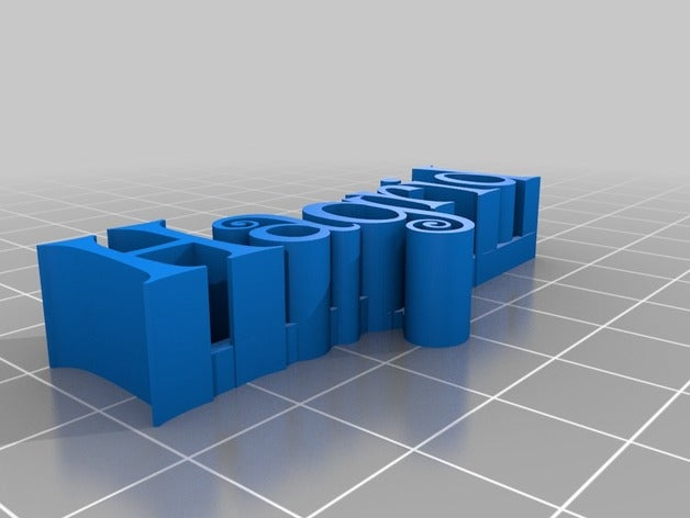 my customized 3d name pla