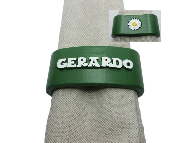 gerardo napkin ring daisy