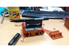 drawing upgrade v2 flexi mount 3d printer accessories pen plotter rebel 2 rebel ii rebel plotter rebel printer rebel upgrade rebel2 rebelii