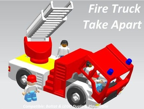 fire truck toy take apart puzzles assembly battat duplo duplo compatible firefighter lego duplo minifig playmobil