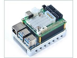nanopi m4 diskstation sata 56 tb de stockage en réseau de l'électronique le disque dur omv openmediavault qnap la framboise rk3399 rockchip synology turbo station