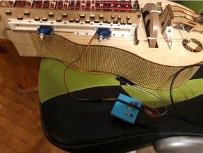 nerdy gurdy servo capo sytem music 9g servo hurdy-gurdy hurdy gurdy servo mount