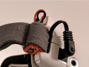 fatshark dominator non-intrusive xt60 mod rc des véhicules dom hd v2 fpv fpv des lunettes de protection hd3 xt60 mont