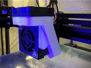 ender 4 magnetic 40 mm fan duct 3d printer parts 40mm fan duct creality ender 4 created freecad