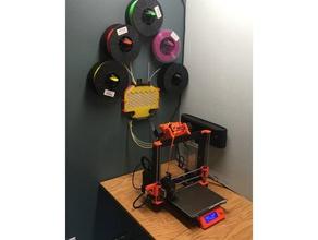 wall mount prusa multiple materials 2s filament buffer 3d printer accessories mk2mm prusai3mk2 prusai3mk3 mm2s mmu mmu2