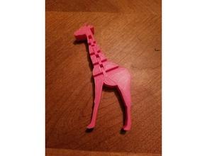 flexi-kafa zürafa 3d baskı 3d baskı mafsallı sevimli oyuncak