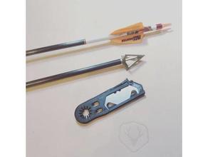 Pfeil Befiederung cutter +breiten Kopf nock drehen-Werkzeug andere Bogenschießen