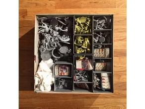modular de almacenamiento de zombicide peste negra verde de la horda de juguete juego accesorios boardgame boardgame inserta