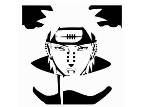 il dolore stencil 2d art akatsuki anime naruto naruto shippuden