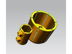 supporto per lapis per pinza kress modelli che montano solite pinze tool holders boxes cnc cnc mill codi-3d codi3d disegno elettromandrino fresa fresatura kress1050 kress 600 per fresa cnc pinza di serraggio stebo