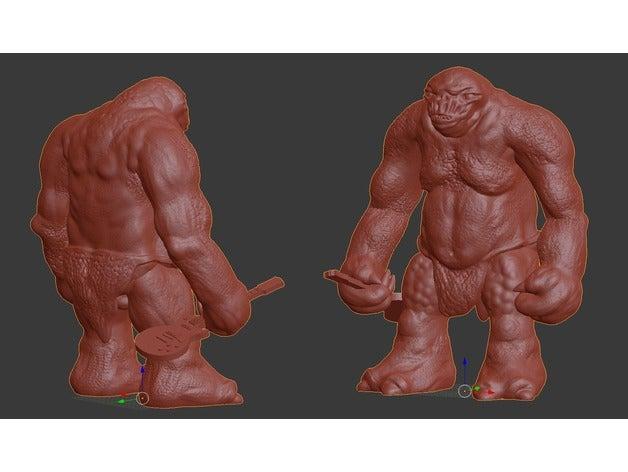 cave troll 3d printing dn