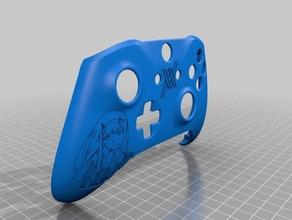 xbox un contrôleur personnalisé coque darling franxx kokoro édition vidéo jeux de la façade avant en plastique haut wrap