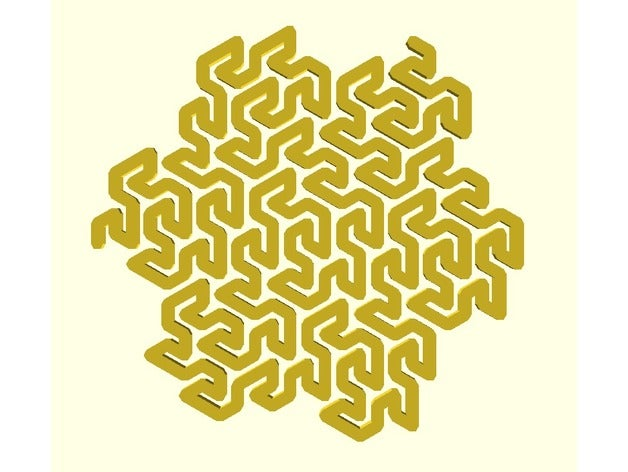 gosper curve math art fra