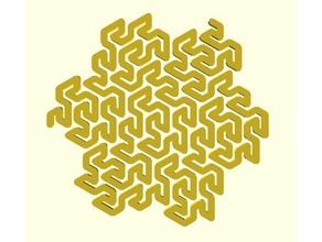 gosper curve math art fractal peano
