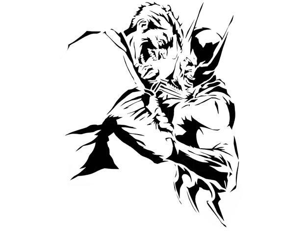 batman joker stencil 2d a