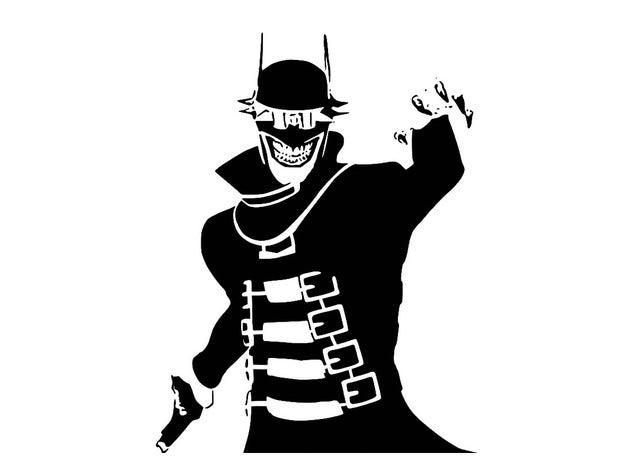 batman laughs stencil 2d