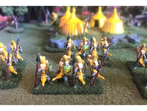 15mm banana knight spears