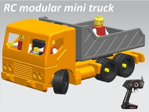 manualrc modular mini truck drive train vehicles arduino nano container duplo compatible flysky lego compatible micro servo n20 rc vehicles rc car rc truck