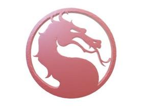 mortal kombat logo 3d stampa