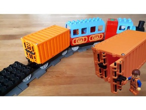 containers duplo train modular mini truck rc vehicles lego stackable container