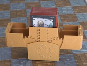 ccg geared card box v2 magnetic latch toy game accessories cards ccg deck box collectible magic gathering storage