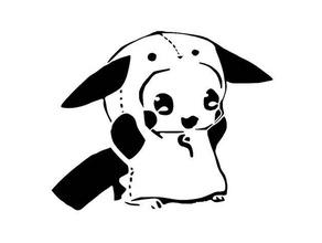 panda pikachu plantilla 2d art lindo pokemon