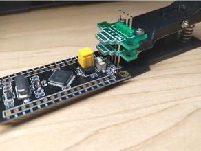 pogo pin test programming debug clip electronics arduino electronics module openscad pcb programming