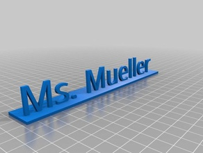 ms mueller stand 3d printing
