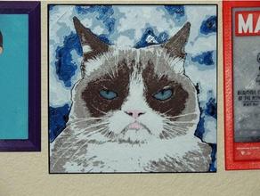 grumpy cat 2d art 2d art 2d wall art art cat grumpy grumpycat grumpy cat sauce stilson wrench tardar test
