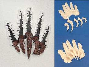 rippen Zange Skulpturen atraviesa Breakthrough claw desgarro escultura garra rippen Skulptur